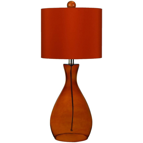 AF Lighting Mercer Hand-Blown Glass Table Lamp in Orange - 8516-TL