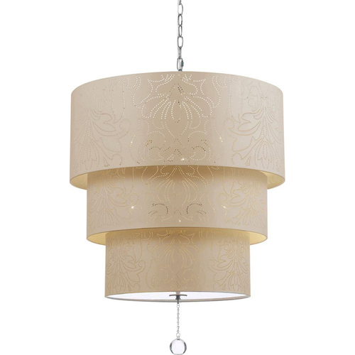 AF Lighting Over The Top Pendant in Cream - 9008-5H