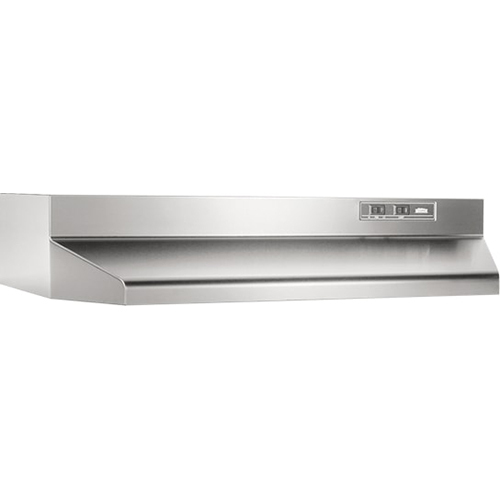 Broan 30` 160 CFM Ducted Range Hood in Stainless Steel - 403004