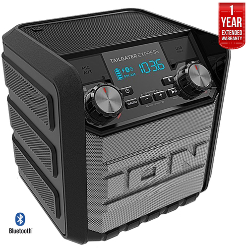 Ion Audio Tailgater Express 20W Bluetooth Compact Speaker Refurbished + Extended Warranty
