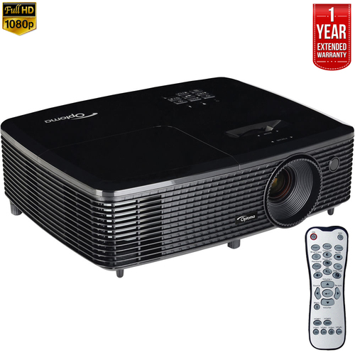Optoma HD142X Full HD 3D DLP Home Theater Projector - Refurbished + Extended Warranty