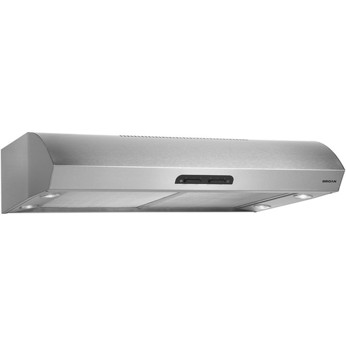 Broan 300 CFM 30` wide Under cabinet Range Hood in Stainless Steel -QP130SS