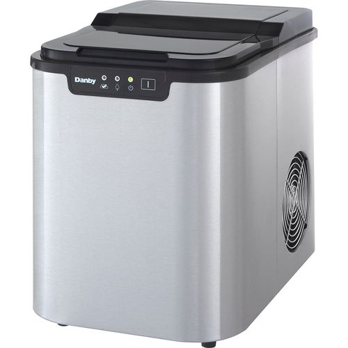 Danby 2 lb Portable Ice Maker in Stainless Steel - DIM2500SSDB