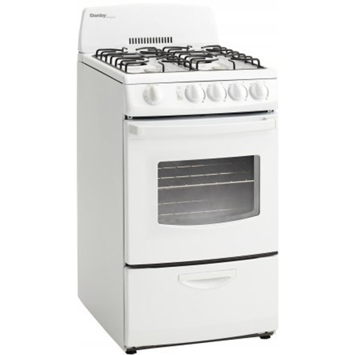 Danby 20  Gas Range Electronic Ignition2 Oven RacksWindow
