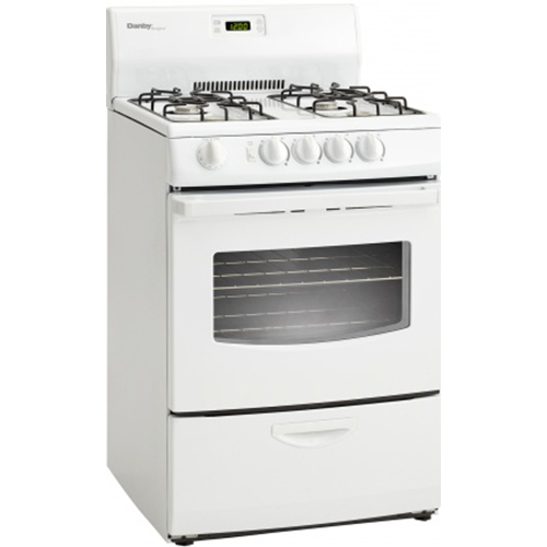 Danby 24  Gas Range4 open BurnerElectronic Ignition2 Oven RacksWindow