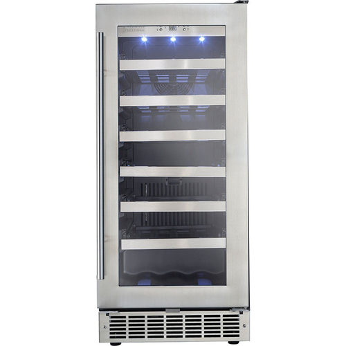 Danby 3.1 CuFt Built-In Wine Cooler LowE tempered glass dr Silhouette