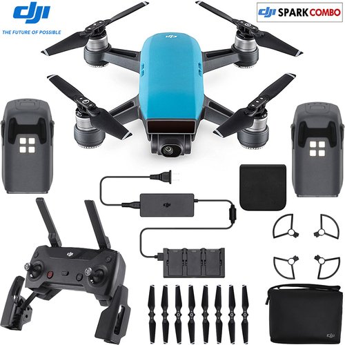 DJI SPARK Fly More Drone Combo Sky Blue - CP.PT.000902 (OPEN BOX)