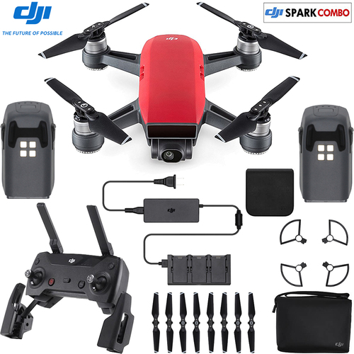 DJI SPARK Fly More Drone Combo Lava Red - CP.PT.000901(OPEN BOX)