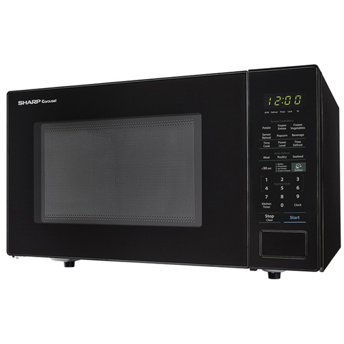 Sharp 1.4 Cu.Ft. 1000W Carousel Countertop Microwave Oven in Black -SMC1441CB