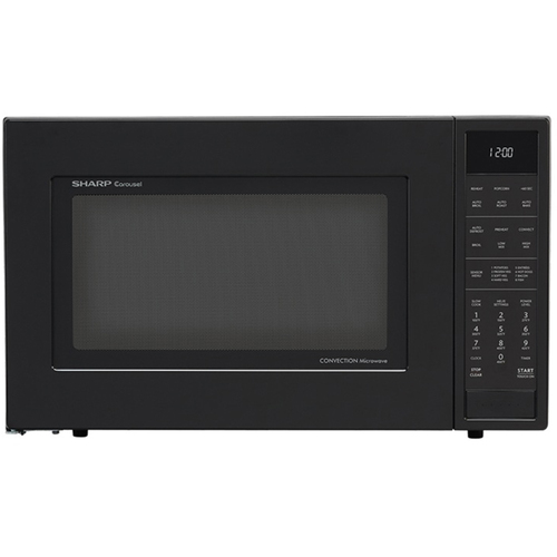 Sharp 1.5 Cu.Ft. 900W Carousel Countertop Microwave Oven in Black -SMC1585BB
