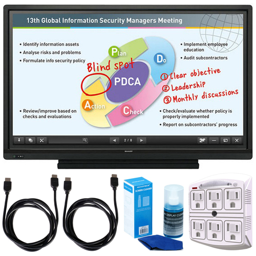 "Aquos Board 60"" Interactive Display System w/ Accessories Bundle"