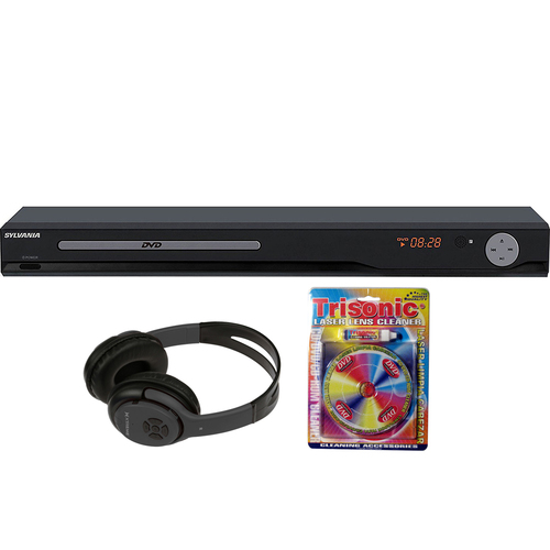 Sylvania Full Size HDMI DVD Player with Bluetooth Headphones Bundle