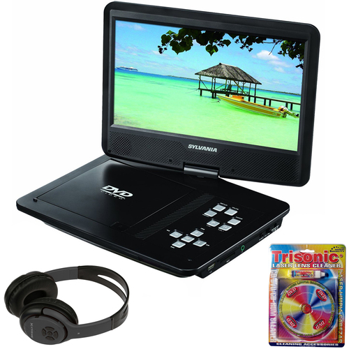 Sylvania 10-Inch Portable DVD Player with Bluetooth Headphones Bundle