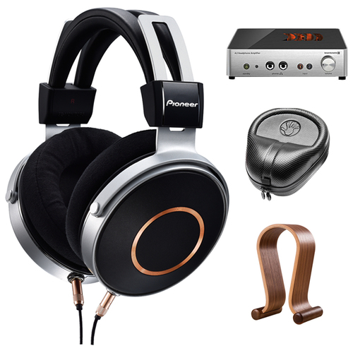 Pioneer Audiophile Grade Hi-Res Headphones w/ three cords + Amplifier Bundle
