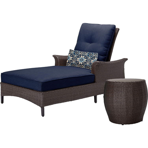 Hanover Gramercy 2-Piece Seating Set in Navy Blue - GRAMERCY2PC-NVY