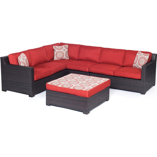Hanover Metropolitan 5-Piece Sectional Set in Autumn Berry - METRO5PC-B-BRY