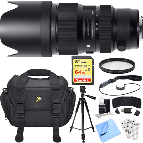 Sigma 50-100mm f/1.8 DC HSM Lens for Canon Mount Essential Accessory Deluxe Bundle