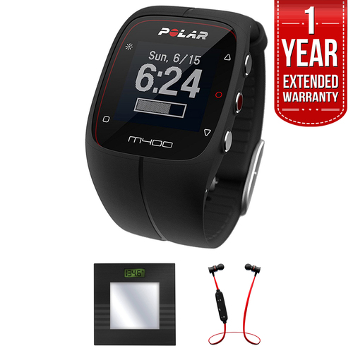 Polar M400 GPS Running & Sports Smart Watch + B.tooth Scale & Headphone Bundle