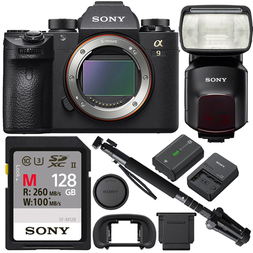 Sony Alpha a9 Mirrorless Interchangeable Lens Digital Camera with HVLF60M Flash Kit