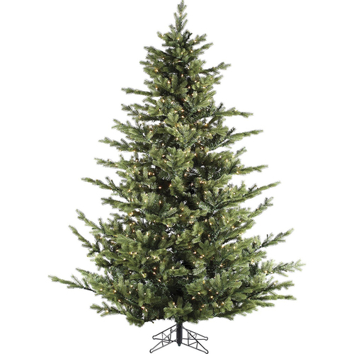 Fraser Hill Farm 7.5 Ft. Foxtail Pine Artificial Christmas Tree w/Multi-Color LED - FFFX075-6GREZ