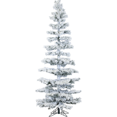 Fraser Hill 7.5 Ft. Hillside Slim Flocked Pine with Clear LED String Lighting - FFHS075S-5SN