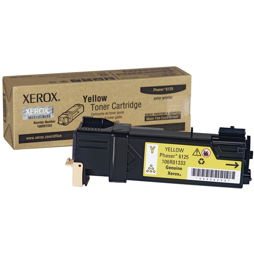 Xerox Yellow Toner Cartridge for Phaser 6125 - 106R01333