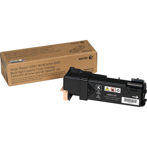 Xerox High Capacity Black Toner Cartridge for Phaser 6500 WorkCentre 6505 - 106R01597