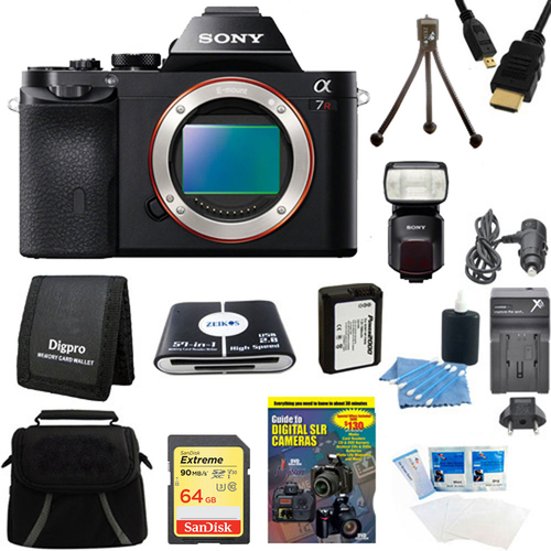 Sony Alpha 7R a7R Digital Camera , HVL-F60M Flash Bundle