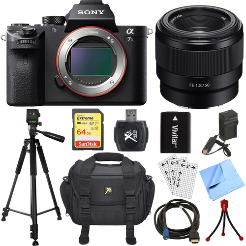 Sony a7S II Full-frame Mirrorless Interchangeable Lens Camera w/ 50mm Lens Bundle