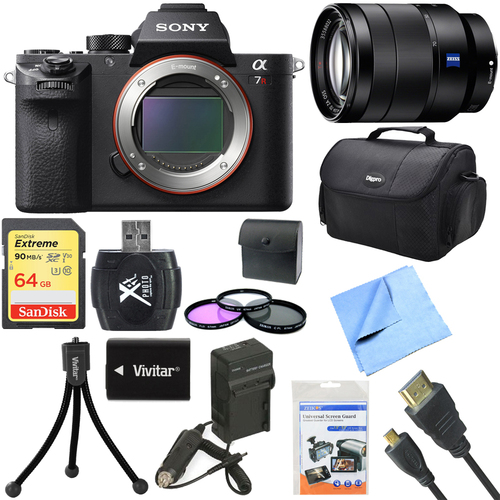 Sony a7R II Full-frame Mirrorless Interchangeable 42.4MP Camera 24-70mm Lens Bundle