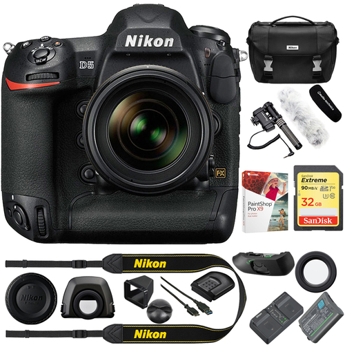 Nikon D5 20.8MP FX-Format Digital SLR Camera Body (CF Version) + Reporter Kit