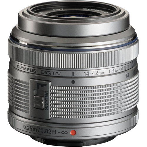 Olympus M.14-42MM F3.5-5.6 2R Zuiko Interchangeable Zoom Lens - Silver Refurbished