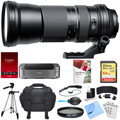 Tamron SP 150-600mm F/5-6.3 Di VC USD Zoom Lens for Canon Bundle
