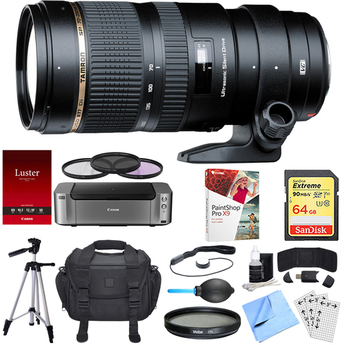 Tamron SP 70-200mm F/2.8 DI VC USD Telephoto Zoom Lens Nikon Dual Mail in Rebate Bundle