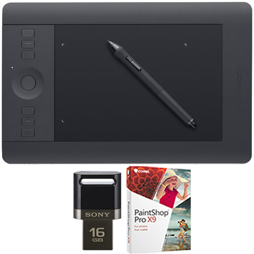 Wacom Intuos Pro Pen & Touch Tablet Medium Creative Bundle 16GB USB/Corel Paint
