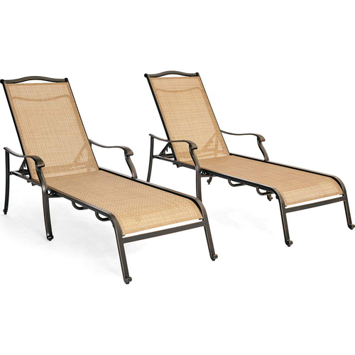 Hanover Monaco 2pc Sling Chaise Lounge Chairs