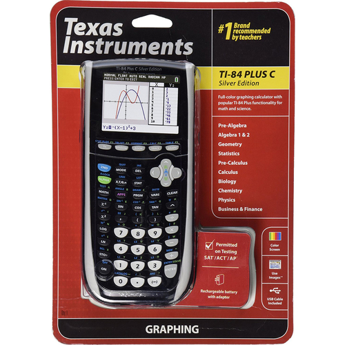 Texas Instruments TI 84 Plus C Silver Graphing