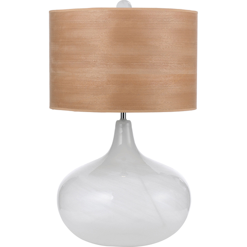 AF Lighting Playa Blown Glass Table Lamp 1-150 3-Way Standard Bulb 27 HX16 W