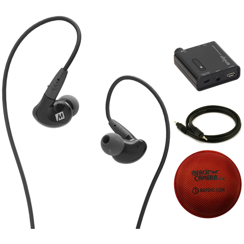 MEE Audio Pinnacle P2 Hi Fidelity Audiophile In-Ear Headphone + Amplifier Bundle