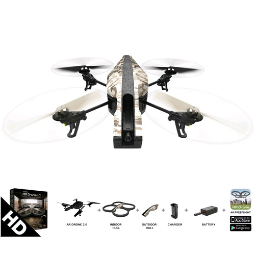 Parrot AR Drone 2.0 Elite Edition App Controlled Quadcopter Sand -Certified Refurbished
