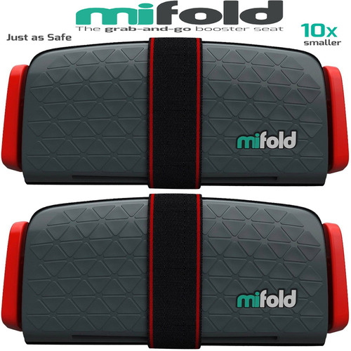 Mifold 2-Pack MF01-US/GRY Grab-and-Go Car Booster Seat (Slate Grey)