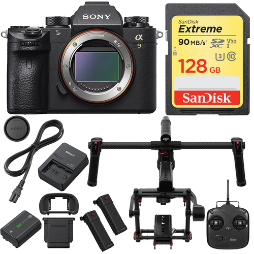 Sony Alpha a9 Mirrorless Interchangeable Lens Camera Body with DJI Ronin M Gimbal Kit