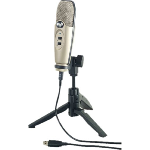 CAD Audio USB Diaphragm Cardioid Condenser Microphone w/Tripod 10' Cable Silver (OPEN BOX)