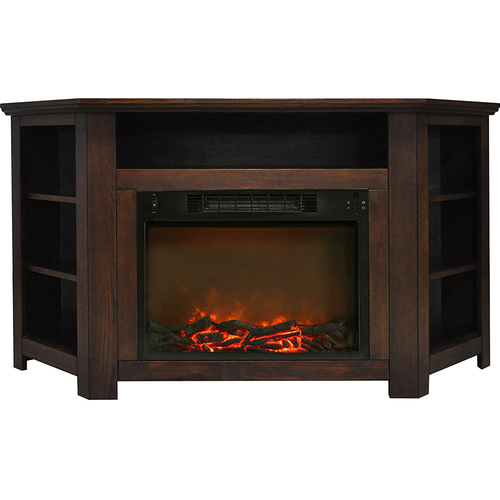 Cambridge 56 x15.4 x30.4  Stratford Fireplace Mantel with Logs Insert