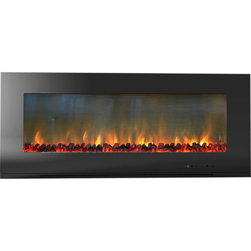 Cambridge 56  Metropolitan Wall Mount Electronic Fireplace with Logs