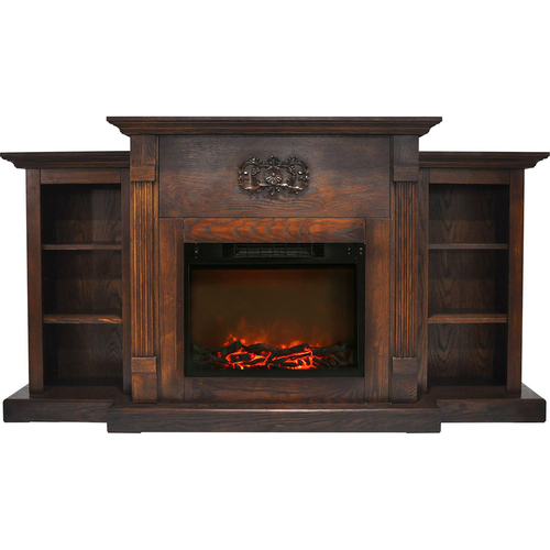 Cambridge 72.3 x15 x33.7  Sanoma Fireplace Mantel with Logs Insert