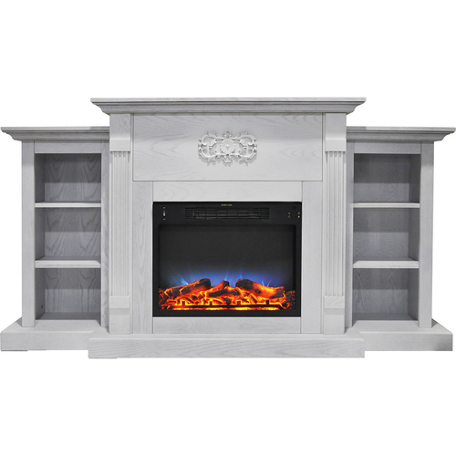 Cambridge 72.3 x15 x33.7  Sanoma Fireplace Mantel with LED Insert