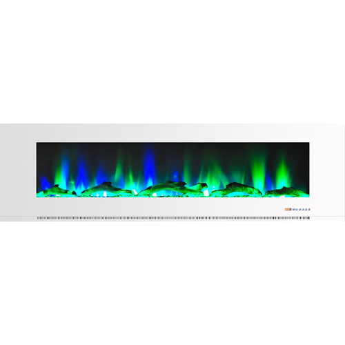 Cambridge 72  Color Changing Wall Mount Fireplace with Logs