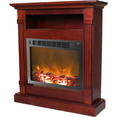Cambridge 33.9 x10.4 x37  Sienna Fireplace Mantel with Insert