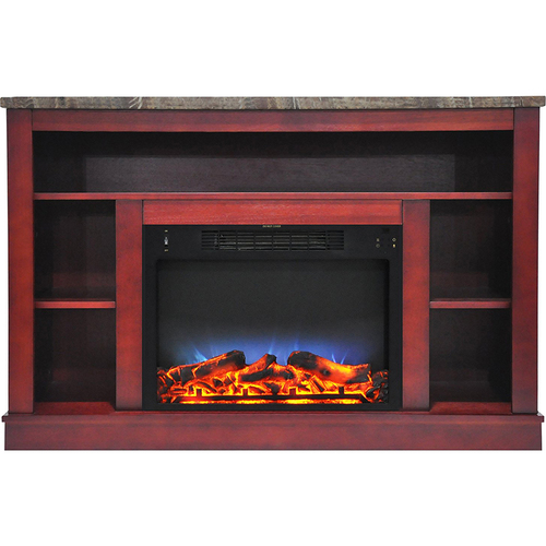 Cambridge 47.2 x15.7 x32.5  Seville Fireplace Mantel with LED Insert Cherry